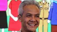Gubernur Jateng Ganjar Pranowo saat menghadiri Forum Nusantara bersama UN Women, Jakarta, Jumat (8/2). Forum ini juga membahas tentang cara membangun perdamaian di keluarga dan komunitas. (Liputan6.com/JohanTallo)