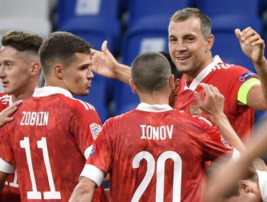 Rusia Bungkam Serbia di Laga Perdana UEFA Nations League