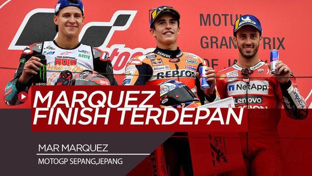 Berita Video Marc Marquez Finis Terdepan di MotoGP Jepang, Valentino Rossi Terjatuh