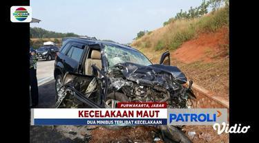 Kecelakaan maut antara dua minibus menyebabkan satu orang tewas sedangkan lima lainnya terluka.