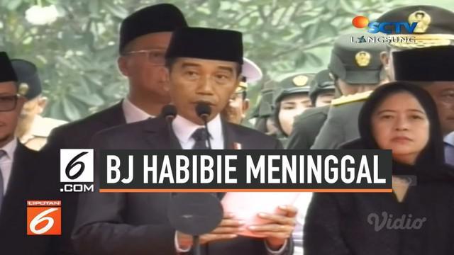 Presiden ke-3 RI Bacharuddin Jusuf Habibie atau BJ Habibie dimakamkan di Taman Pemakaman Pahlawan (TMP) Kalibata, Jakarta Selatan, Kamis (12/9/2019) pukul 13.30 WIB. Pemakaman secara militer ini dipimpin langsung oleh Presiden Joko Widodo atau Jokowi...