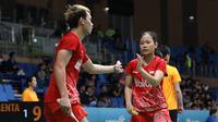 Ganda campuran Indonesia Rinov Rivaldy / Pitha Haningtyas Mentari lolos ke perempat final Korea Terbuka 2019. (foto: PBSI)