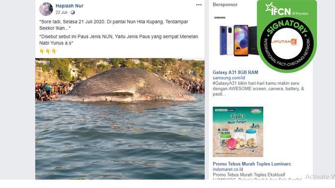 Tangkapan layar dari Facebook Hapizah Nur.