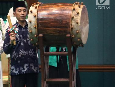 Pukul Bedug, Jokowi Buka Harlah ke-93 NU