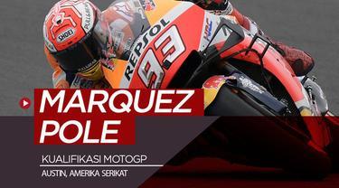 Berita video hasil kualifikasi balapan MotoGP 2019 di Austin, Amerika Serikat, di mana Marc Marquez meraih pole position dan Valentino Rossi di posisi kedua tercepat, Sabtu (13/4/2019).