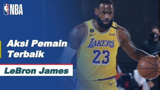 Berita video aksi-aksi terbaik LeBron James ketika Los Angeles Lakers menang 131-122 atas Portland Trail Blazers pada gim 5 playoff wilayah barat NBA, Minggu (30/8/2020) pagi hari WIB.