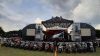 Honda Bikers Day (HBD) di Lapangan Panglima Besar Jenderal Sudirman, Ambarawa, Jawa Tengah, Sabtu (30/11/2019). (Arief/Liputan6.com)