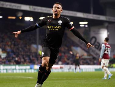 Manchester City Hajar Burnley, Gabriel Jesus Tampil Memukau