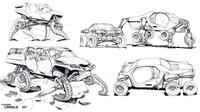 Konsep masa depan, mobil berbentuk reftil (Autoevolution)