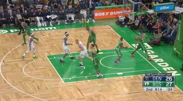 30 poin Kyrie Irving tidak cukup ketika Nikola Jokic dan Nuggets mengalahkan Celtics 114-105.