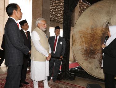 Presiden Jokowi dan PM India Kunjungi Masjid Istiqlal
