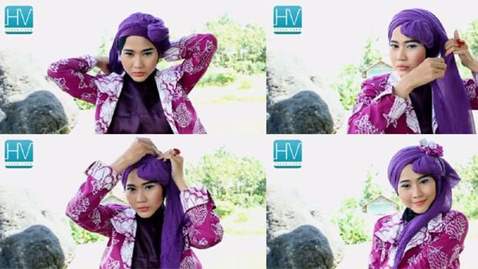 Video Tutorial Hijab Pesta Dari Pashmina Cantik Dan Simpel Beauty Fimela Com