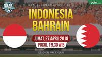PSSI Anniversary Cup 2018 Indonesia Vs Bahrain (Bola.com/Adreanus Titus)