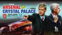 Arsenal VS Crystal Palace (Liputan6.com/Trie yas)
