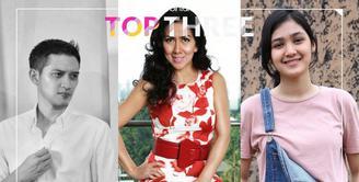 Bintang Top Three edisi hari ini datang dari Aktor, Rezky Aditya yang dituntut orang tuanya untuk menikah, Ultah pertama putri Venna Melinda dan kejutan dari sahabat di ulang tahun Cut Syifa.