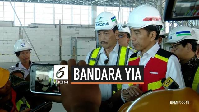 Presiden Joko Widodo pada Kamis (29/8/2019), meninjau perkembangan pembangunan Bandara Internasional Yogyakarta di Kabupaten Kulon Progo dalam kunjungan kerjanya ke Provinsi Daerah Istimewa Yogyakarta (DIY).