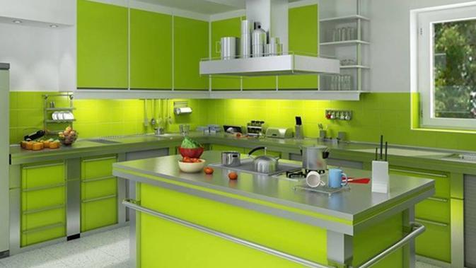 Desain Dapur Dengan Warna Hijau Elegan Nan Bersih Page 1