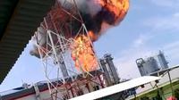 Pengolahan Gas Gundih Cepu di Blora Terbakar. (Istimewa)
