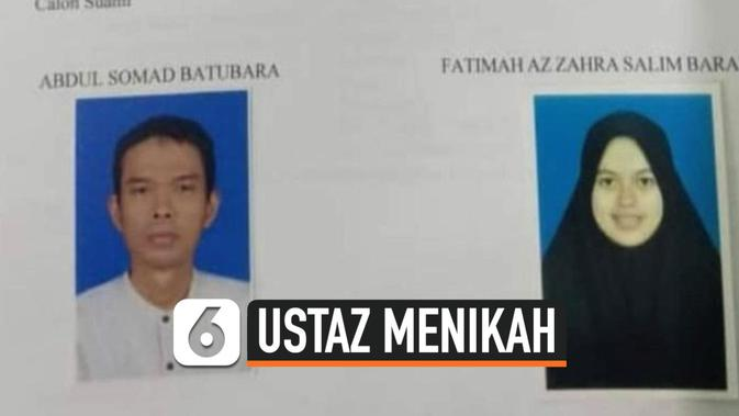 VIDEO: Sah, Ustaz Abdul Somad Nikahi Fatimah Az Zahra ...