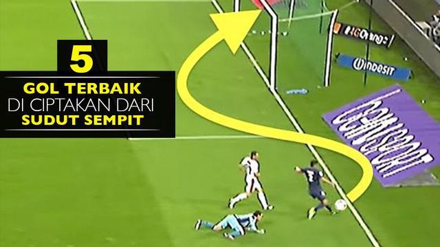 Video gol terbaik yang diciptakan dari sudut sempit, salah satunya Samir Nasri saat masih di klub Arsenal.