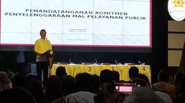 Kementerian PANRB mengadakan Penandatanganan Komitmen Pembangunan Mal Pelayanan Publik. Acara ini dihadiri Menteri PANRB dan 48 kepala daerah.