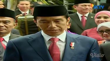 Pimpin upacara peringatan Hari Kesaktian Pancasila di Lubang Buaya, Jakarta Timur, Jokowi tegaskan PKI dilarang di Indonesia.