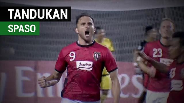 Berita video tandukan Ilija Spasojevic yang buat Bali United tak kalah dari tim asal Filipina, Global Cebu, di Piala AFC 2018.