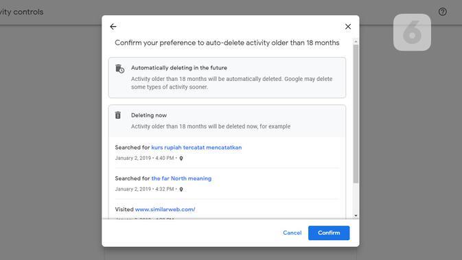 Auto-Delete di Google My Activity