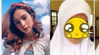 5 Foto Lawas Beby Tsabina saat SMA, Tampil Berhijab (sumber: Instagram.com/bebytsabina dan ask.fm/bebytsabina)
