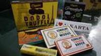 Ragam produk coklat dodol atau Chocodot yang akan disajikan dalam Choconation lusa (Liputn6.com/Jayadi Supriadin)
