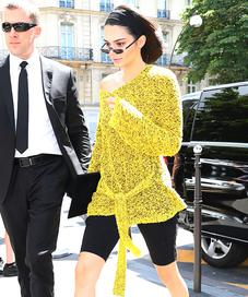 Kendall Jenner wearing Bike Shorts - Photo: gettyimages