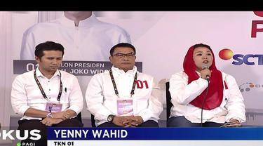 Yenny Wahid dari kubu TKN nol satu mengatakan tidak meragukan patriotisme dan nasionalisme Calon Presiden Prabowo Subianto.