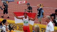 Menjuarai Kejuaraan Dunia Atletik IAAF U-20, Lalu Muhamaad Zohri dapat hadiah renovasi rumah dari Presiden Jokowi. (Instagram/Imam Nahrawi)