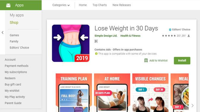 Lose Weight In 30 Days. (Doc: Google Play)