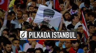 Presiden Turki Recep Tayyip Erdogan bereaksi di twiiter menyikapi kemenangan Ekrem Imamoglu dalam pemilihan ulang Wali Kota Istanbul.