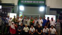 Saelan Football Academy meresmikan lapangan latihan sendiri di Jakarta (Liputan6.com/Defri Saefullah)