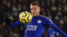 Jamie Vardy (19 gol) - Sejauh ini, Vardy telah menorehkan 19 gol bersama Leicester City di Premier League. (AFP/Oli Scarff)