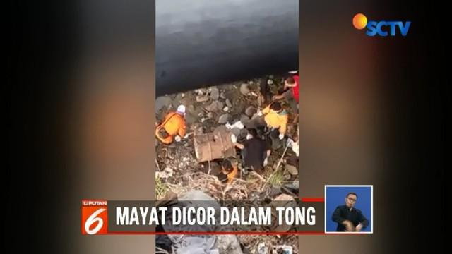 Polisi masih menyelidiki kasus penemuan kerangka manusia yang dicor beton di dalam tong di pinggir Sungai Bengawan Solo, Sukoharjo.