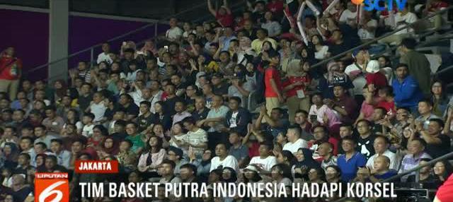 Timnas bola basket Korea kalahkan Indonesia di laga perdana Grup A dengan skor 53-31.