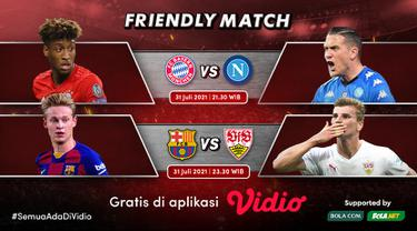Link Live Streaming Pertandingan Pramusim Bayern Munich dan Barcelona di Vidio, Sabtu 31 Juli 2021