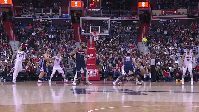 Berita video game recap NBA 2017-2018 antara Washington Wizards melawan Philadelphia 76ers dengan skor 109-94.