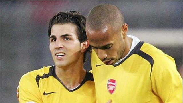 Cesc Fabregas dan Thierry Henry