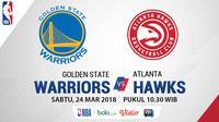 Golden State Warriors Vs Atlanta Hawks (Bola.com/Adreanus Titus)