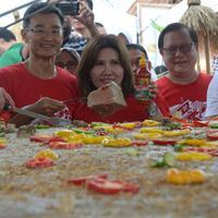 Bakso Gepeng Terbesar di Indonesia pecahkan Rekor MURI