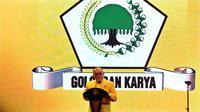 Aburizal Bakrie di pembukaan Munaslub Golkar di Bali Nusa Dua Convention Center (BNDCC), Kabupaten Badung, Bali, Sabtu (14/5/2016). (Liputan6.com/Johan Tallo)