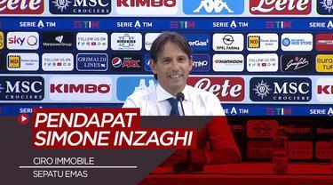 Berita Video Pendapat Simone Inzaghi Soal Raihan Sepatu Emas Ciro Immobile
