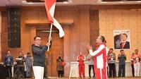 Menteri Pemuda dan Olahraga Imam Nahrawi mengukuhkan kontingen Indonesia yang akan berlaga pada ASEAN Schools Games 2019 di Semarang, Jawa Tengah, 17-25 Juli. (foto: Kemenpora)
