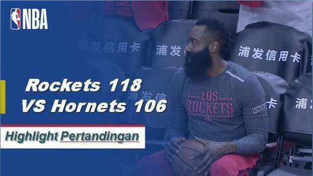 James Harden skor 28 sebagai Rockets mendapatkan kemenangan atas Hornets