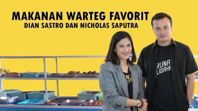 Dian Sastrowardoyo dan Nicholas Saputra membuka rahasia mereka soal makanan warteg dan nasi padang. Waduh kayak apa tuh ya menu mereka?