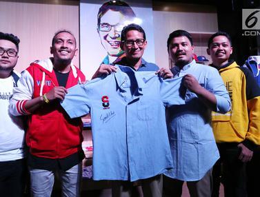 Bidik Pasar Milenial Sandiaga Uno Luncurkan Merchandise Thesandiuno